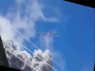 Kül bulutuna böyle yakaland�lar