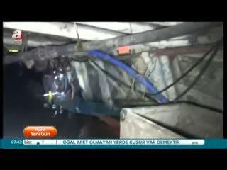 Kameralar madenin 150 metre dibini görüntüledi