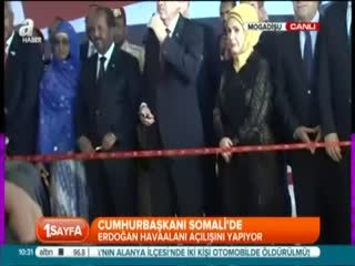 Erdo�an Mogadi�u'da aç�l�� törenine kat�ld�