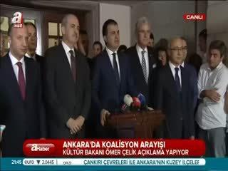 AK Parti-CHP görü�mesinin ard�ndan fla� aç�klamalar