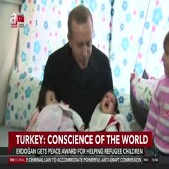 Erdoğan gets peace award for helping refugee children