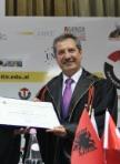 """Tiran Üniversitesi'nden Ahmet Çalık'a """"Fahri Doktora"""" payesi verildi"""