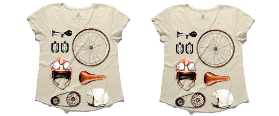 John Lennon'ın bisiklet tutkusu tişörtlerde...