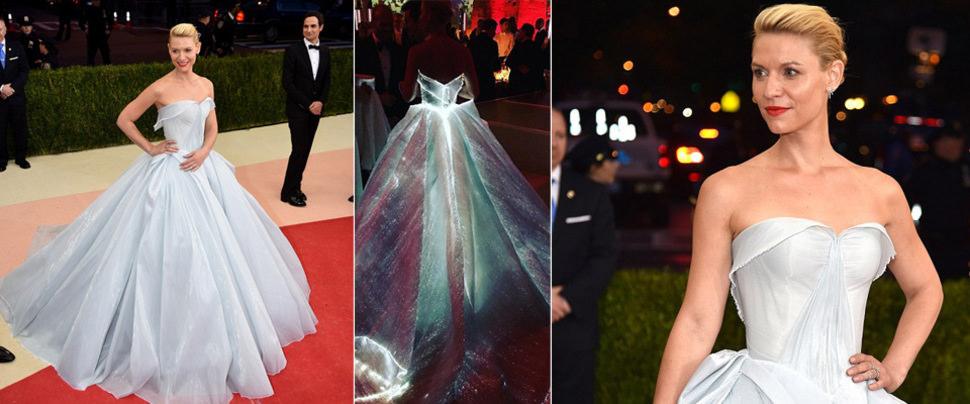 Met Gala'nın en parıltılı elbisesini Claire Danes giydi