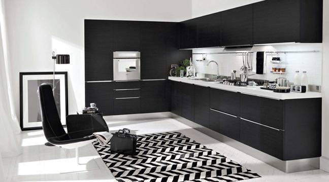 2011 Modası Mutfak Tezgahları – Siyah Mutak tasarımı