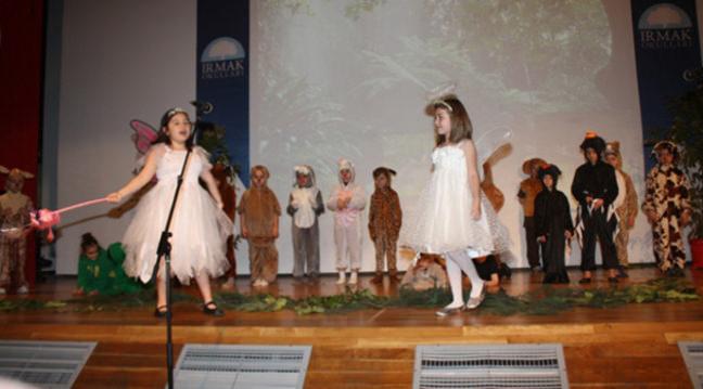 Irmak ilkokulu'nda kulüp etkinlikleri kapsamında tiyatro eğitimi