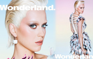 Katy Perry Wonderland dergisi i�in sar���n oldu