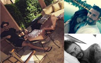 Beckham�a Instagram�da �� g�nde 5 milyon takip�i