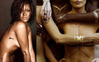 Rihanna'n�n flash tattoo tasar�mlar� sat��ta