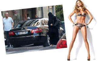 Gisele B�ndchen tan�nmamak i�in burka giydi!