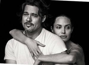 Angelina Jolie ve Brad Pitt'den romantik pozlar