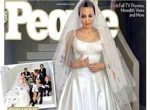 Angelina Jolie'nin gelinli�i iki �nl� dergide kapak!