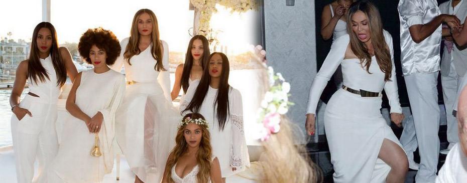 Beyonce annesinin dü�ününden foto�raflar� payla�t�