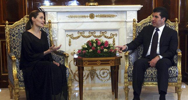 Angelina Jolie meets with Nechirvan Barzani