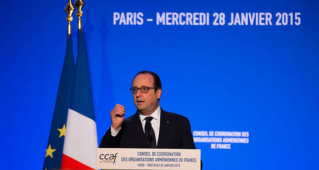 Hollande urges new era of Turkey-Armenia rel.