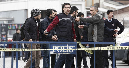 A blonde woman dressed in black attacked the police outpost in Istanbul's Taksim Square with an AK-47 rifle and a pistol around 2:30 p.m. on Friday.  Security camera footage emerged after the...