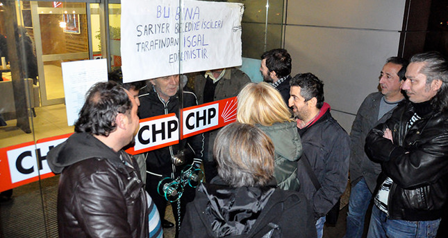 CHP municipality workers occupy headquarters
