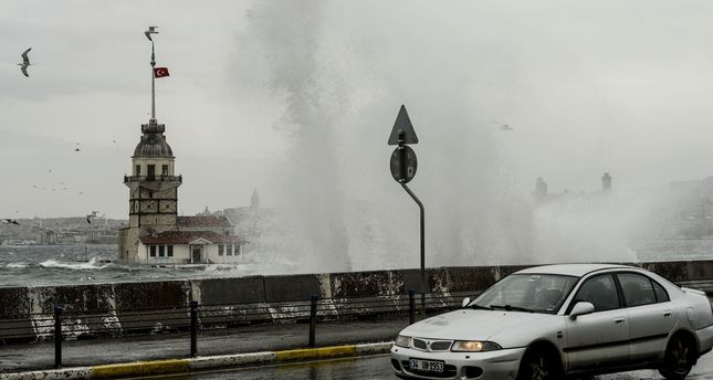 Storm cancels flights, ferries, trains