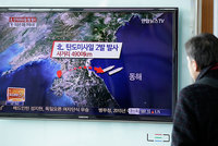 North Korea on Monday fired missiles into the sea and vowed to carry out