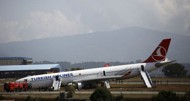 Turkish jetliner skids off on runway in Nepal