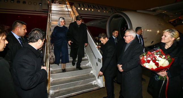 PM Davutoğlu arrives in New York