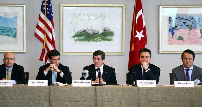 PM Davutoğlu reassures investors on Turkey's stability