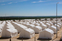 Turkey's biggest refugee camp for displaced Syrians, with a capacity for 35,000 people, was officially opened on Thursday, two months after it started admitting refugees.   First lady Emine...