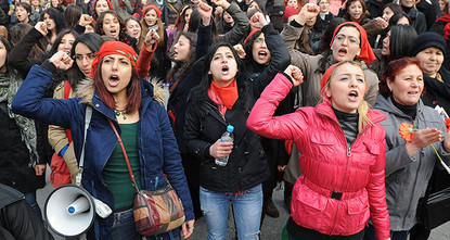 Women's rights organizations are calling on Turkish females to attend an Istanbul rally on Sunday marking International Women's Day on March 8.