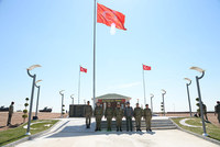 Turkey's most senior military commander visited the temporary Tomb of Süleyman Shah and Saygı Military Outpost in the Syrian village of Ashme on Thursday. The tomb was relocated from a Turkish...