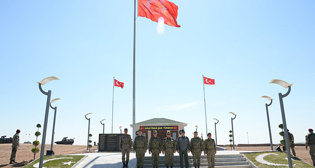 Chief of Gen Staff Özel visits new Süleyman Shah Tomb