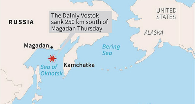 At least 54 dead as Russian trawler with 132 crew sinks