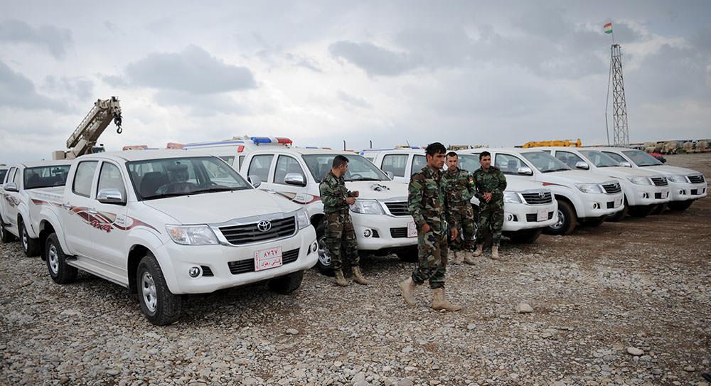 Turkey Hands 15 Pickups To Kurdish Peshmerga Fighting Isis