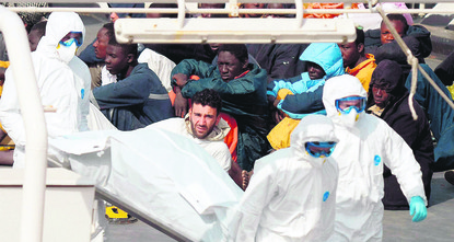 The reported migrant fatalities in the Mediterranean Sea continue to rise as a boat carrying more than 300 people floating in international waters radioed for help on Monday, according to the...