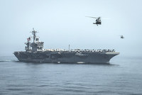 The United States has dispatched the aircraft carrier USS Theodore Roosevelt toward the waters off Yemen to join other American ships preparing to intercept any Iranian vessels carrying weapons to...