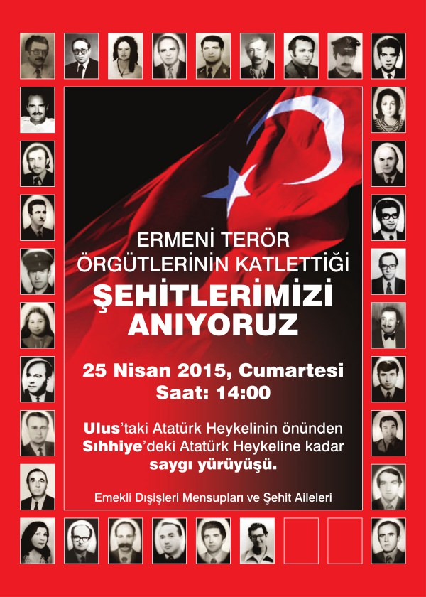 Turkish diplomats organize march to commemorate colleagues killed by Armenian terrorists