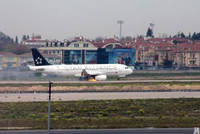A Turkish Airlines flight from Milan to Istanbul was forced to make an emergency landing at Atatürk Airport on Saturday morning, after the plane's engine caught fire in the air. 