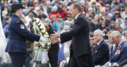 The prime ministers of Australia and New Zealand on Saturday visited two of the Gallipoli battlefields where their countries' men fought and died.
