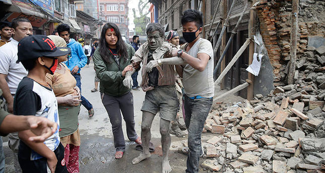 Earthquake measuring 7.9 magnitude strikes Nepal