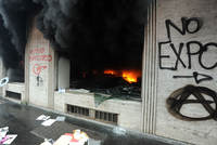 The opening of Expo 2015 was marred Friday by violent clashes between police and opponents of Milan's hosting of the first world fair since Shanghai five years ago.  Police fired tear gas at...