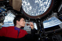 The first Italian woman in space is now the world's first orbiting barista.