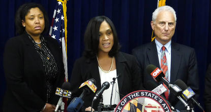 A grand jury indicted six Baltimore police officers Thursday over the death of African-American man Freddie Gray in their custody last month, a state attorney said.