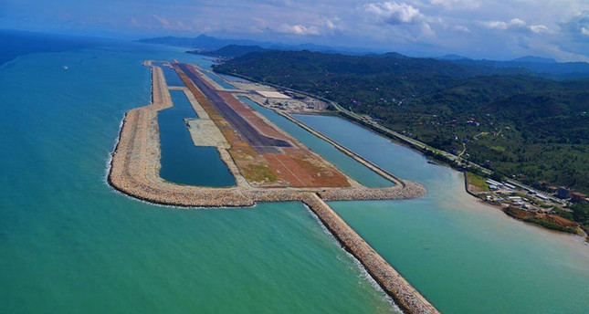 Europe's 1st airport on artificial island opens in Turkey