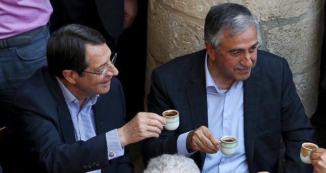 Turkish coffee breaks the ice between Cypriot leaders