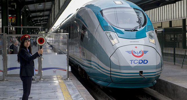Ultra-high-speed trains on service