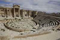 The self-proclaimed Islamic State of Iraq and al-Sham (ISIS) militants shot dead around 20 men inside an ancient amphitheatre in the Syrian city of Palmyra on Wednesday, accusing them of being...
