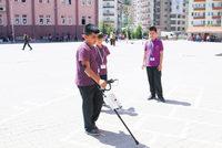 Fifth grade students Berat Karaca, Salih Çimenoğlu and Ekrem Haktanıyan of Çankırı Mehmetçik Middle School have invented a smartcane featuring navigation for the blind to present at the Scientific...