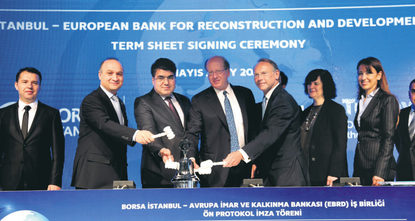 In a landmark deal, the European Bank for Reconstruction and Development (EBRD) announced on Friday that the bank is starting exclusive talks to acquire a 10 percent stake in Borsa Istanbul.