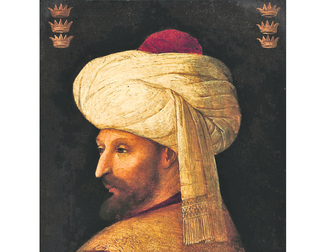 portrait of mehmed ii the conqueror sultan of ottoman empire to be auctioned daily sabah