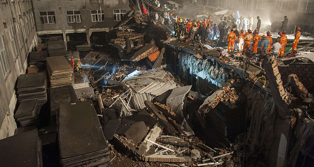 China shoe factory collapse kills 11, injures dozens