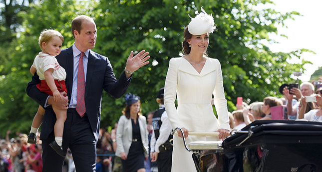 UK's Princess Charlotte christened at historic church